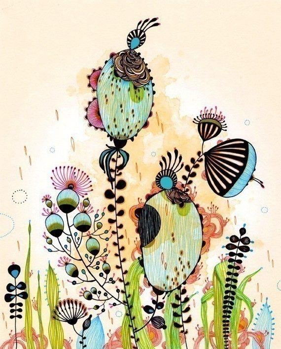 watercolor: James Of Arci, Watercolor Art, Artists, Inspiration, Yellena James, Doodles, Prints Sales, Watercolor Zentangle, Flowers Drawings