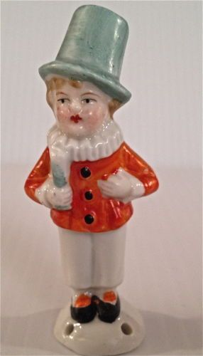 Made in Germany half doll pin cushion clown with thimble holder hat NR /  Dec 18, 2014 / US $52.00