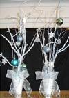 Winter Wonderland sweet 16 centerpieces