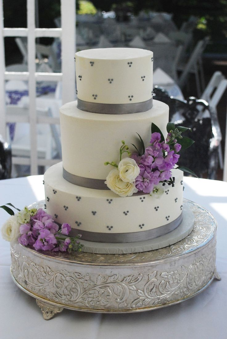 Plum Purple Wedding Cake