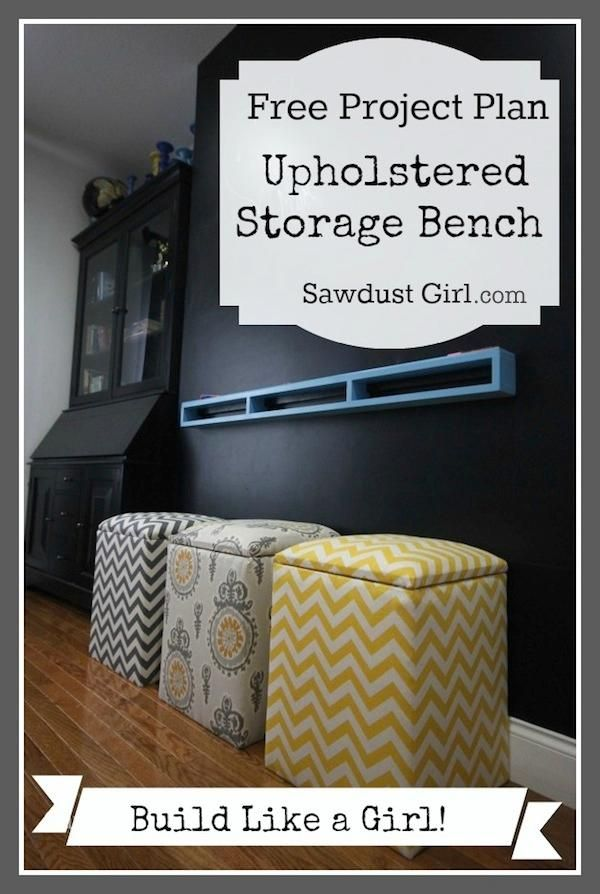 A nice simple solution for storage in the girlsu0027 room - one each in. Storage BenchesDiy Upholstered Storage BenchDiy ... & Best 25+ DIY upholstered storage bench ideas on Pinterest | DIY ... islam-shia.org