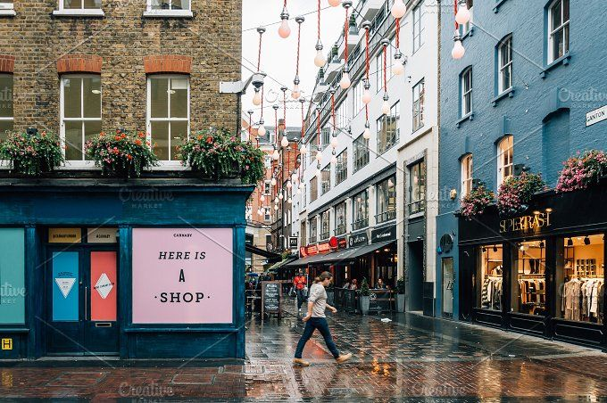 Commercial street in London by Architect´s eye on @creativemarket