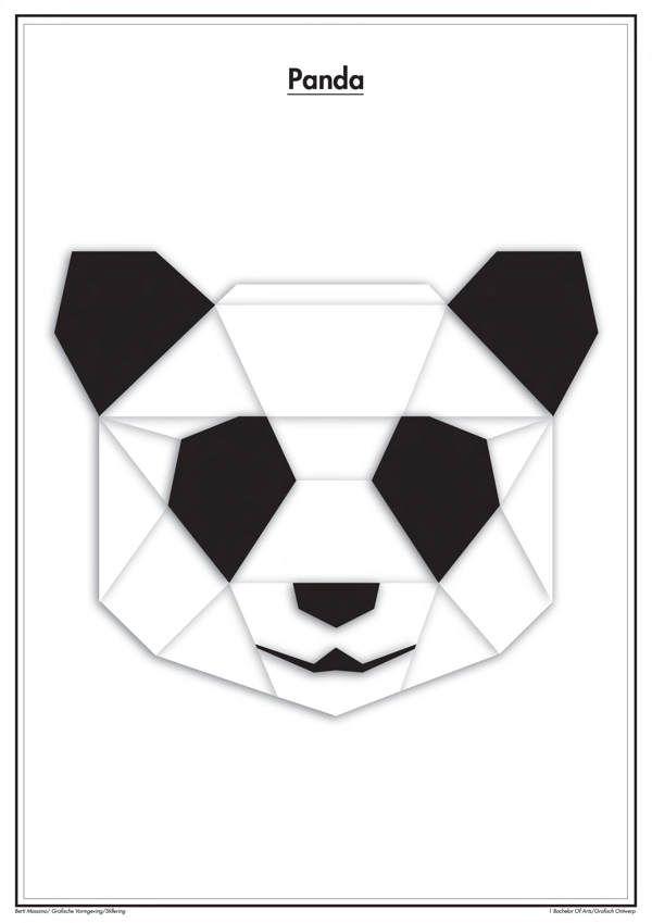 Geometric animals on Behance                                                                                                                                                                                 Plus