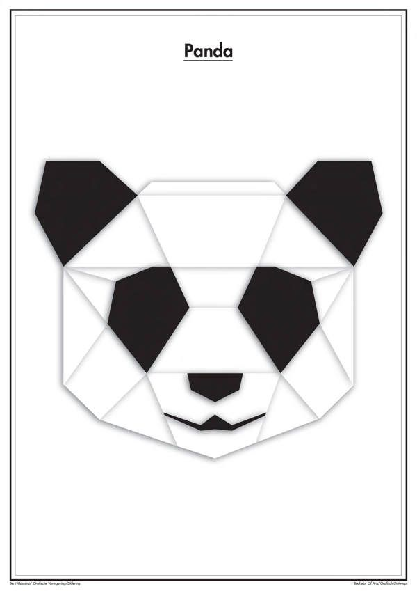 Wall decal geometric wall art geometric wall decor abstract wall decal - Geometric Animals On Behance Etiquetas Pinterest Animaux Pandas