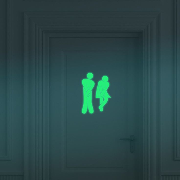 Creative glow in the dark bathroom sticker