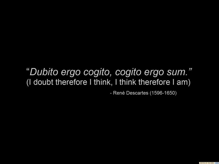 """Descartes- father of modern rationalism. """"I think, therefore, I am,"""" sums up western philosophy pretty well."""