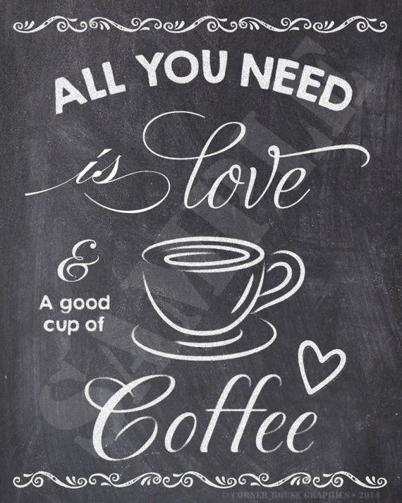 Coffee Lover Chalkboard Sign