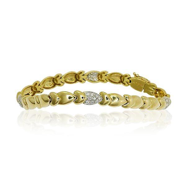 Bracelet Yellowgold with Diamonds by Wempe Gelbgoldenes Diamant-Armband mit Diamanten 0,919ct von Wempe