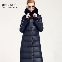 Luxury Womans Down Parka with a Rabbit Fur Winter Coat