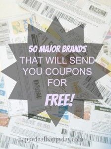 50 Major Brands That Will Send You Coupons for FREE!