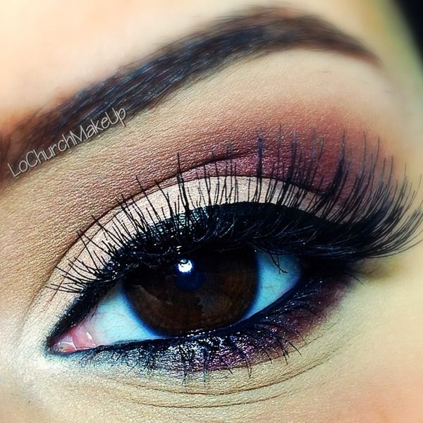 #HumanHairLashes on #browneyes with nude and burgundy eyeshadow. Note the stiff ends of the human hair eyelashes and compare with real authentic mink lashes in our article, to see which gives you the utmost thickness!!  http://minkilashes.org/100-human-hair-eyelashes-vs-siberian-mink-for-thickness/