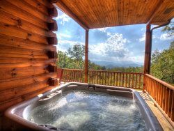 Relax in the Smokies with this amazing view.  Moonlight Ridge Cabin - Bryson City, NC Bryson City Cabin Rentals