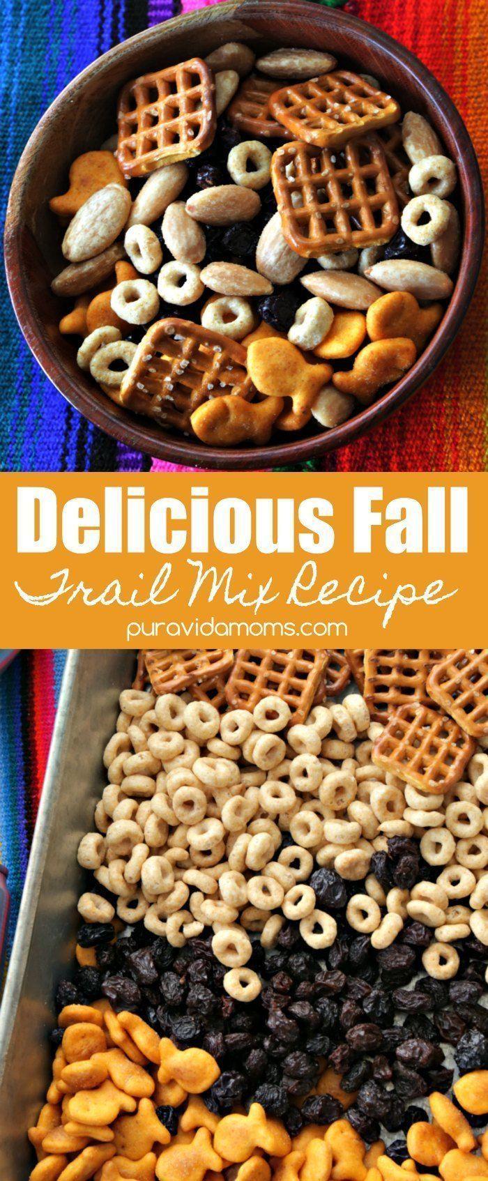 Dieses einfache Rezept für den Herbst-Trail-Mix ist perfekt für Herbstabenteue…