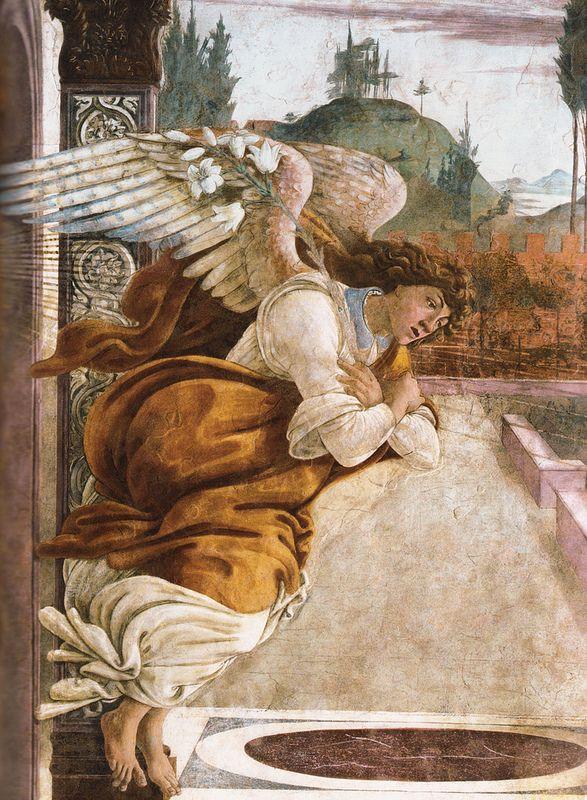 Sandro Botticelli, Annunciazione di San Martino alla Scala, Detail