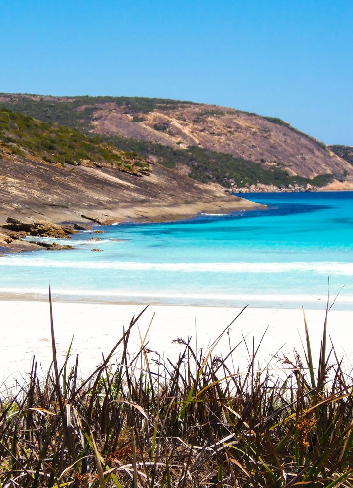 Cape Le Grand beach is beautiful, protected bay with camping facilities at Cape Le Grand National Park near Esperance, Western Australia. Find out more about the beaches in the park at GetawayWA.