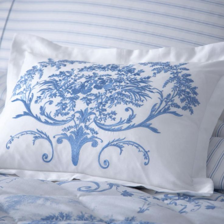 Dorma Blue Toile Collection Cushion - Dunelm Mill