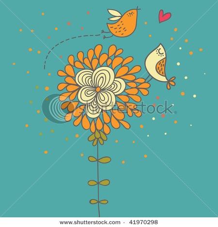 lo9ve: Google Image, Iris Ideas, Cartoon, Illustrations, Romantic, Birds, Flower