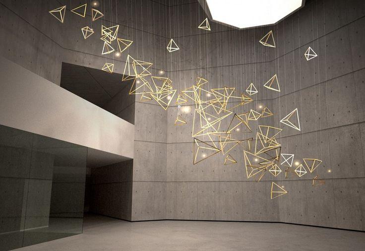 Light installation by LUUM (London based contemporary lighting studio)