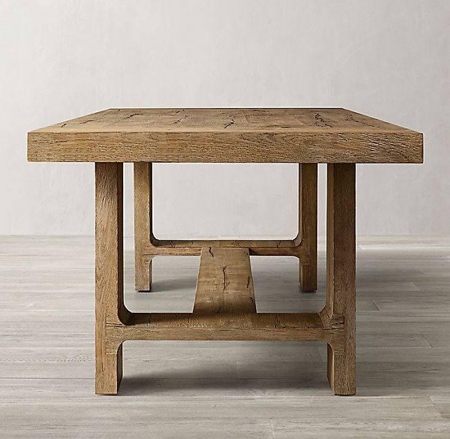 Davos Oak Rectangular Extension Dining Table Light Wood Dining Table Solid Oak Dining Table Steel Dining Table