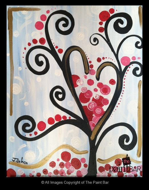 Funky #Heart Tree Painting - Jackie Schon, The Paint Bar