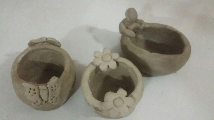 Tiny clay pots