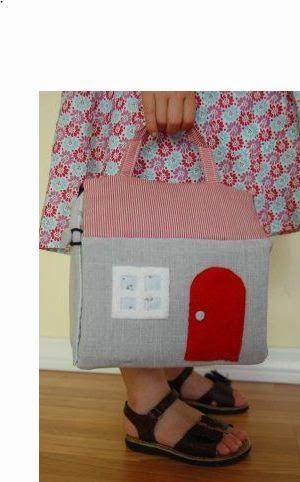 lodijoella: Mochila de casita para niñas-Moldes