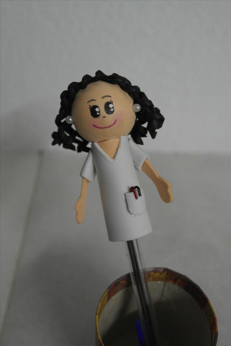 Fofuboli enfermera. Facebook: Las Creaciones de Irene