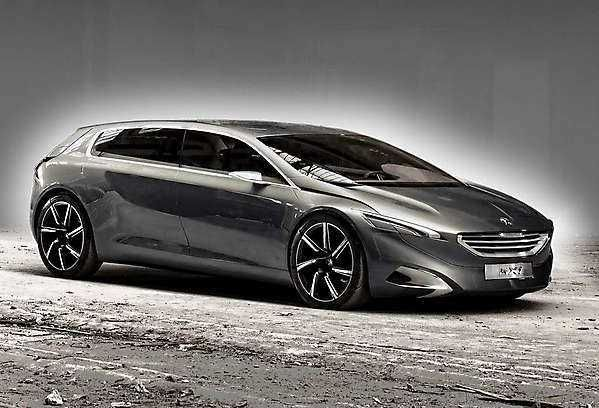 2018-2019 Peugeot HX1 Concept — 6-seater MPV with a hybrid power plant