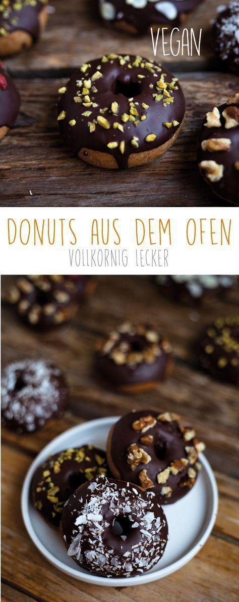 Vollkorn Donut aus dem Ofen -vegan