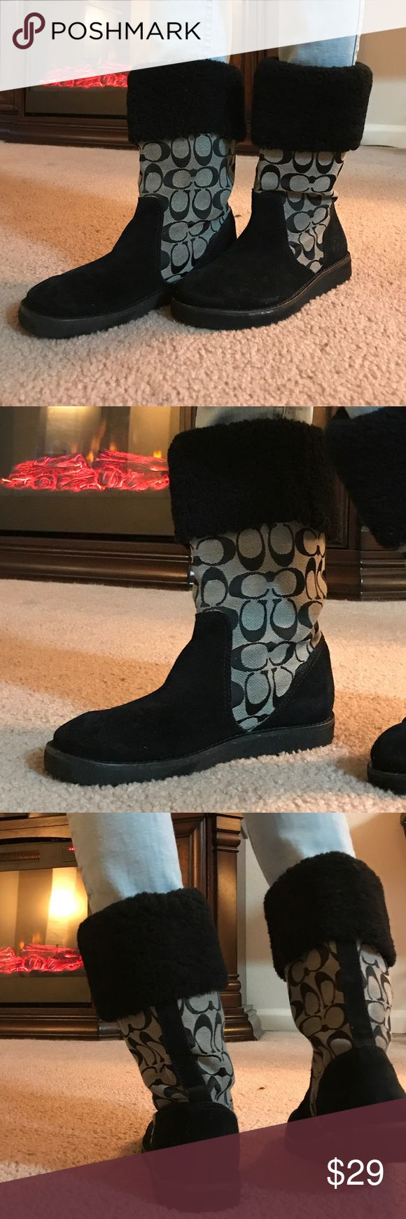 Coach boots Used coach boots. Super cute! Coach Shoes Ankle Boots & Booties