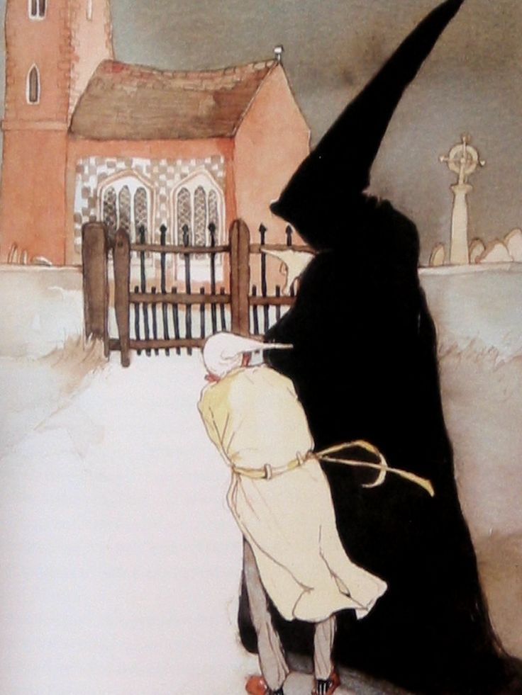 the art of lisbeth zwerger. illustration from 'a christmas carol'.