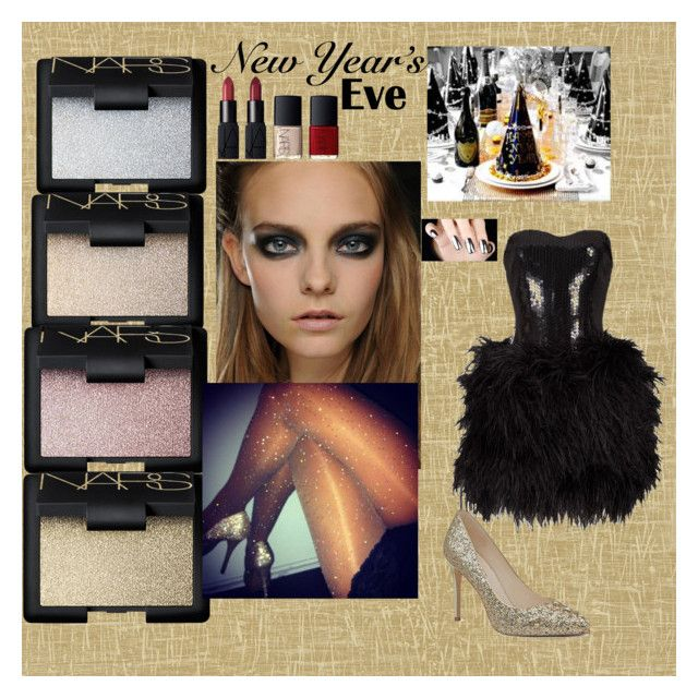 """""""New Year's Eve"""" by kimberly1202 ❤ liked on Polyvore featuring beauty, Designers Guild, NARS Cosmetics, Lillie Rubin and Nine West"""