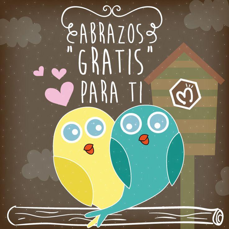 Abrazos para ti. #Love #Kiss #Migas