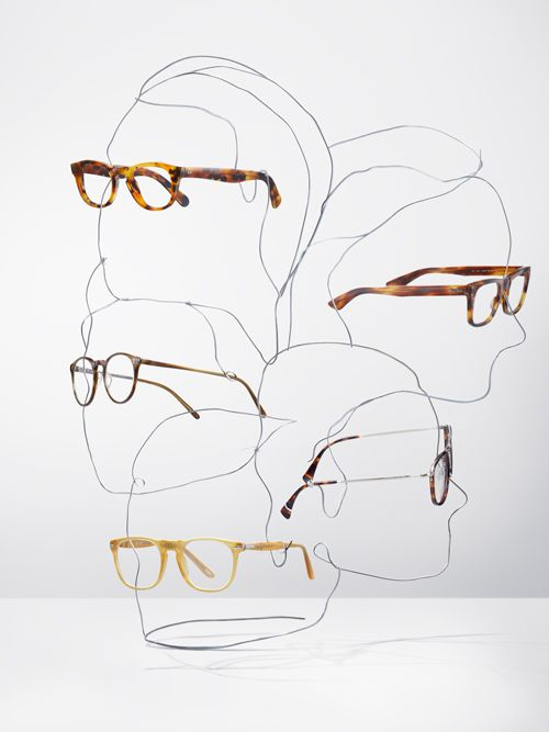 Such a unique way to display glasses. It can be a great concept for any retail store and window displays. The silhouette could have LED lights at night.