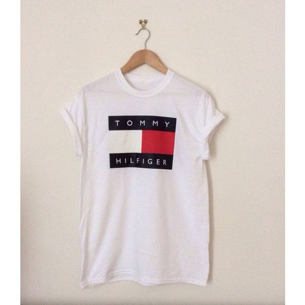 e00c6ef69dd Classic White Tommy Hilfiger Swag Sexy Style Top Tshirt Fresh Boss... ( 23)  ❤ liked on Polyvore featuring tops