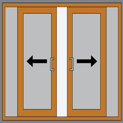 Details about upvc sliding patio doors white oak for Upvc french doors leeds