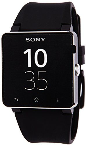 Sony SmartWatch 2 Handy-Uhr (4,1 cm (1,6 Zoll) Display, NFC, Bluetooth, Android 4.0) mit Silicon-Armband schwarz