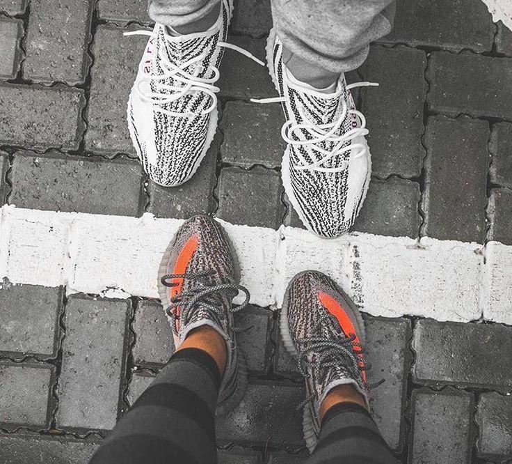 Adidas Yeezy Boost 350 V2 U0026quot;Zebrau0026quot; (top); And U0026quot;Belugau0026quot; (bottom). | Sneaker Fashion | Pinterest ...