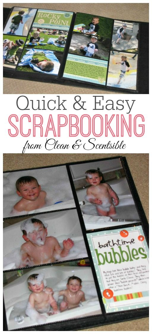 Quick and Easy Scrapbooking - This is such a great way to get caught up on all of your photos and use up leftover scrapbooking supplies!