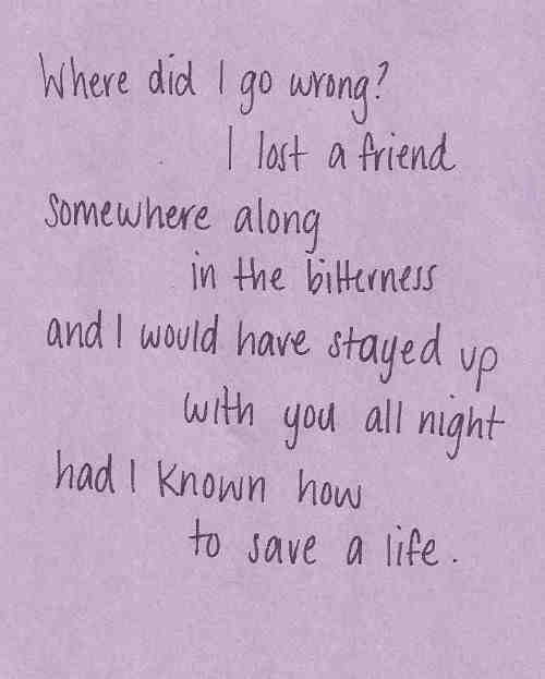 The Fray. How To Save A Life.