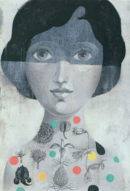 Olaf Hajek illustration: Galleries, Art Paintings, Illustrations, Masks Girls, Olaf Hajek, Artists Inspiration, Portraits, Maskedgirl Olaf, Folkartist Olaf