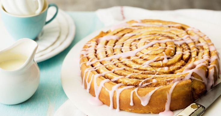 This giant cinnamon scroll is sure to put a smile on everyone's faces.