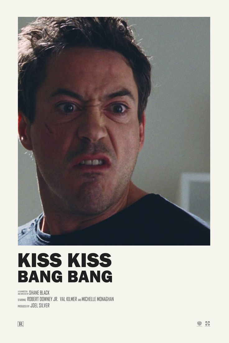 Kiss Kiss Bang Bang alternative movie poster Prints available HERE