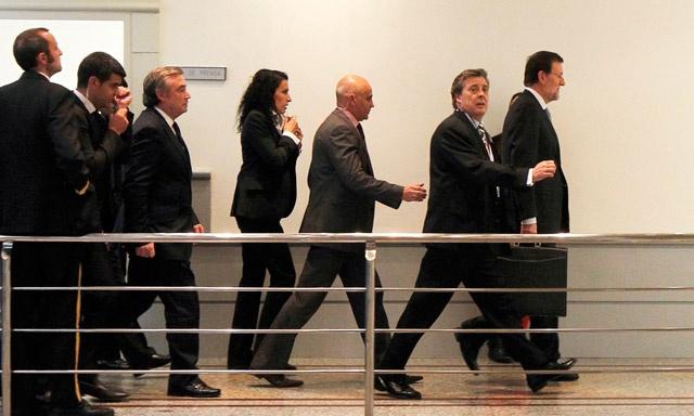 Rajoy evitando a la prensa