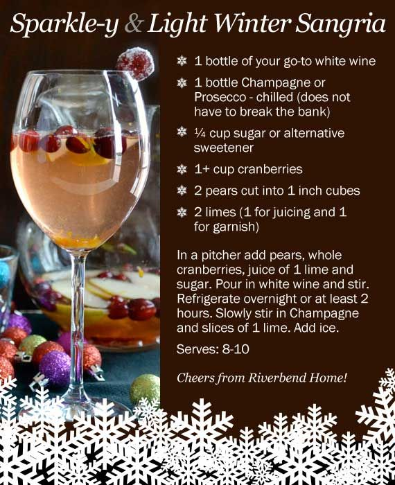 Winter sangria recipe with Prosecco, great idea for a NYE cocktail