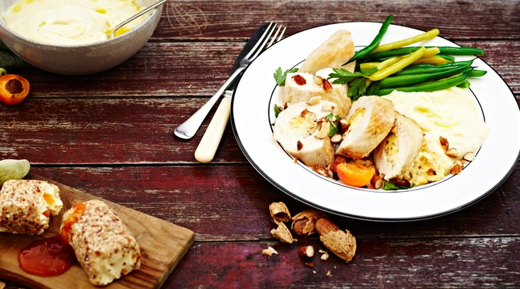 Apricot-and-almond-cream-cheese-stuffed-chicken-breasts-with-mash-and ...