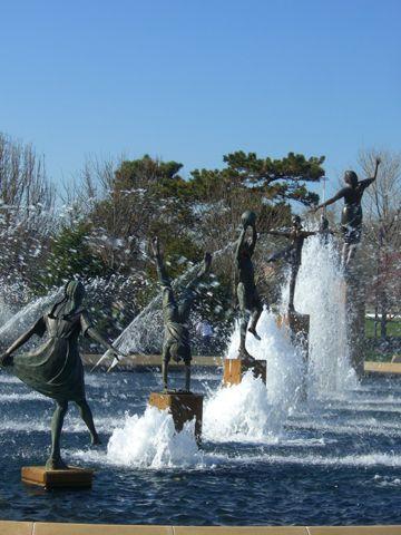 Children's Fountain, North Kansas City, Missouri, USA