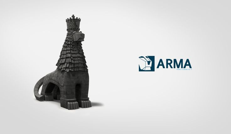 Arma mascot made with blender