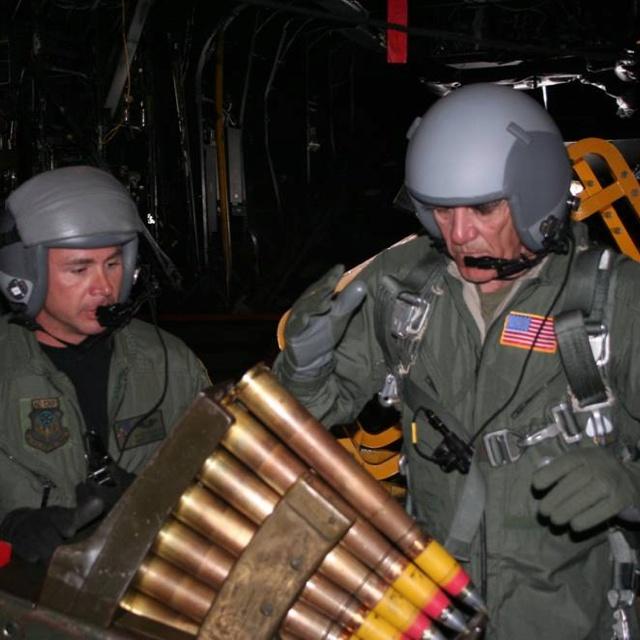 AC-130 Gunship Crew At Work