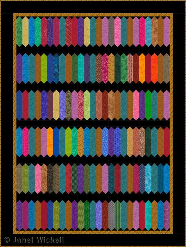 Got Fabric Scraps? You'll Love this Easy Zig Zag Scrap Quilt Pattern: Make a Scrappy Zig Zag Quilt